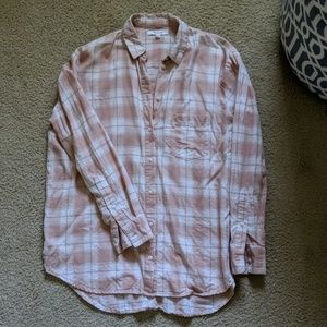 Madewell soft pink oversized button down shirt
